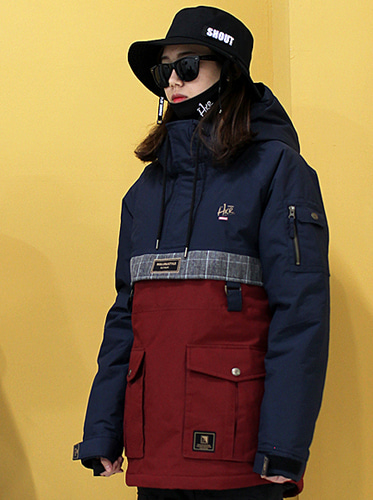 17/18  Anorak_H Navy/Burgundy Mix]보드복