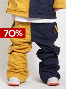 12/13 HIP PANTS [MUSTARD_NAVY MIX]